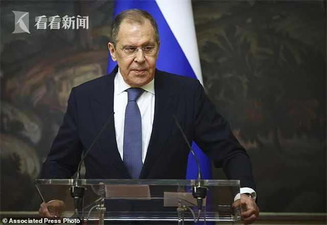 俄外长接触新冠患者后自我隔离 近来未接触普京