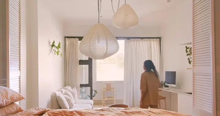 爆改46㎡脏乱破小公寓,不动结构只换家具,夫妻俩越住越舒心