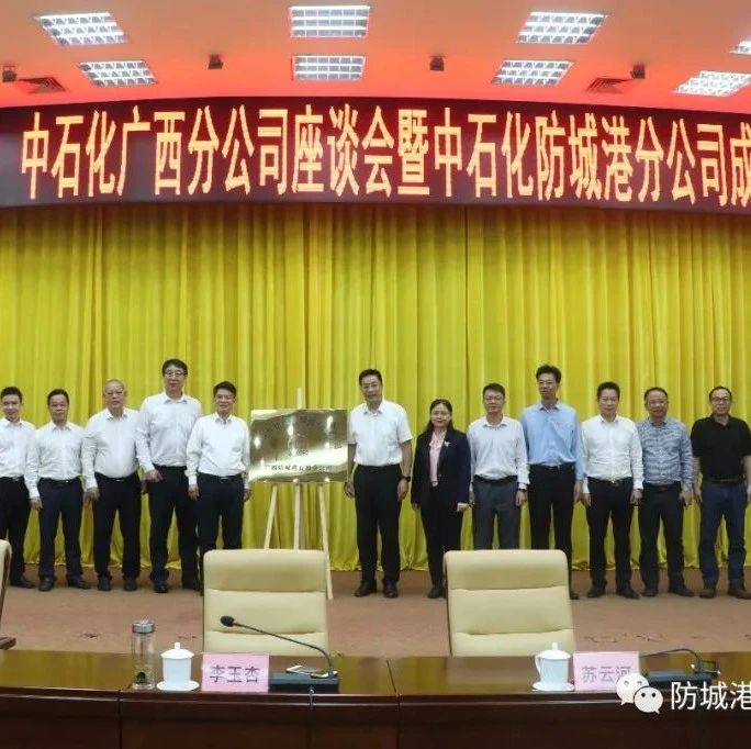 中石化广西防城港石油分公司成立揭牌