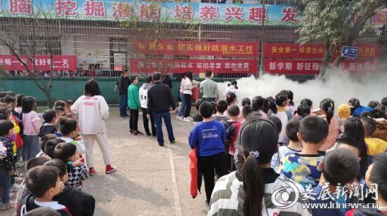 娄星区茶园中学扎实开展消防安全演练
