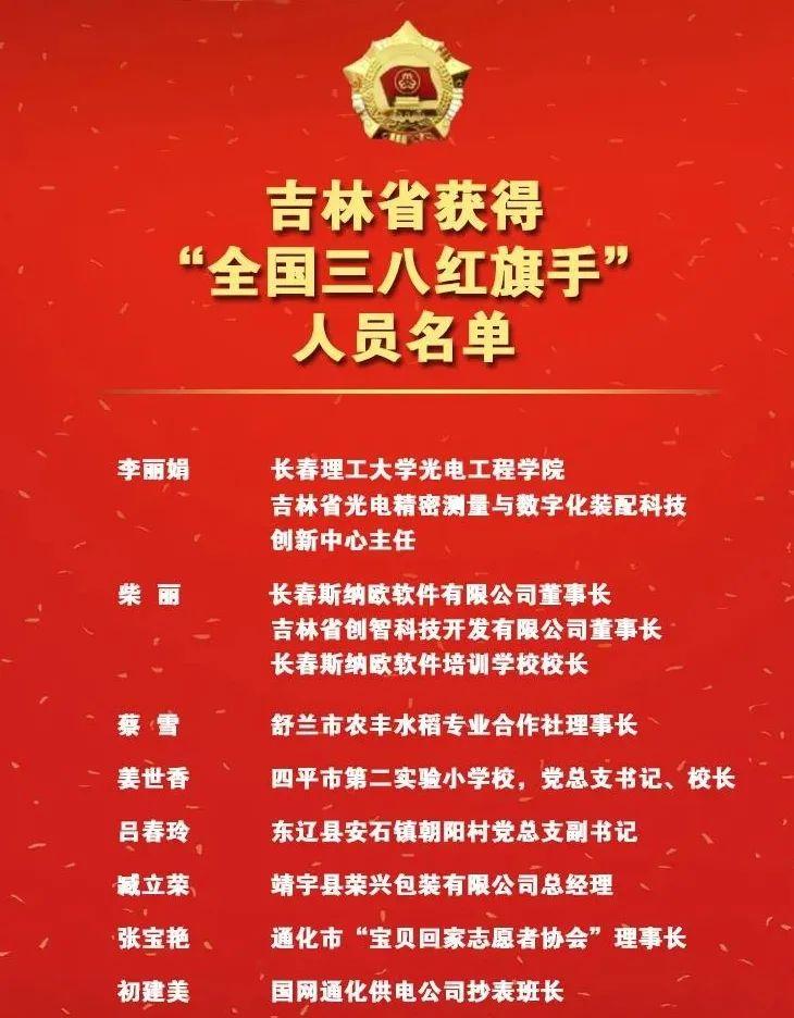 """光电工程学院李丽娟教授获得""""全国三八红旗手""""荣誉称号图片"""
