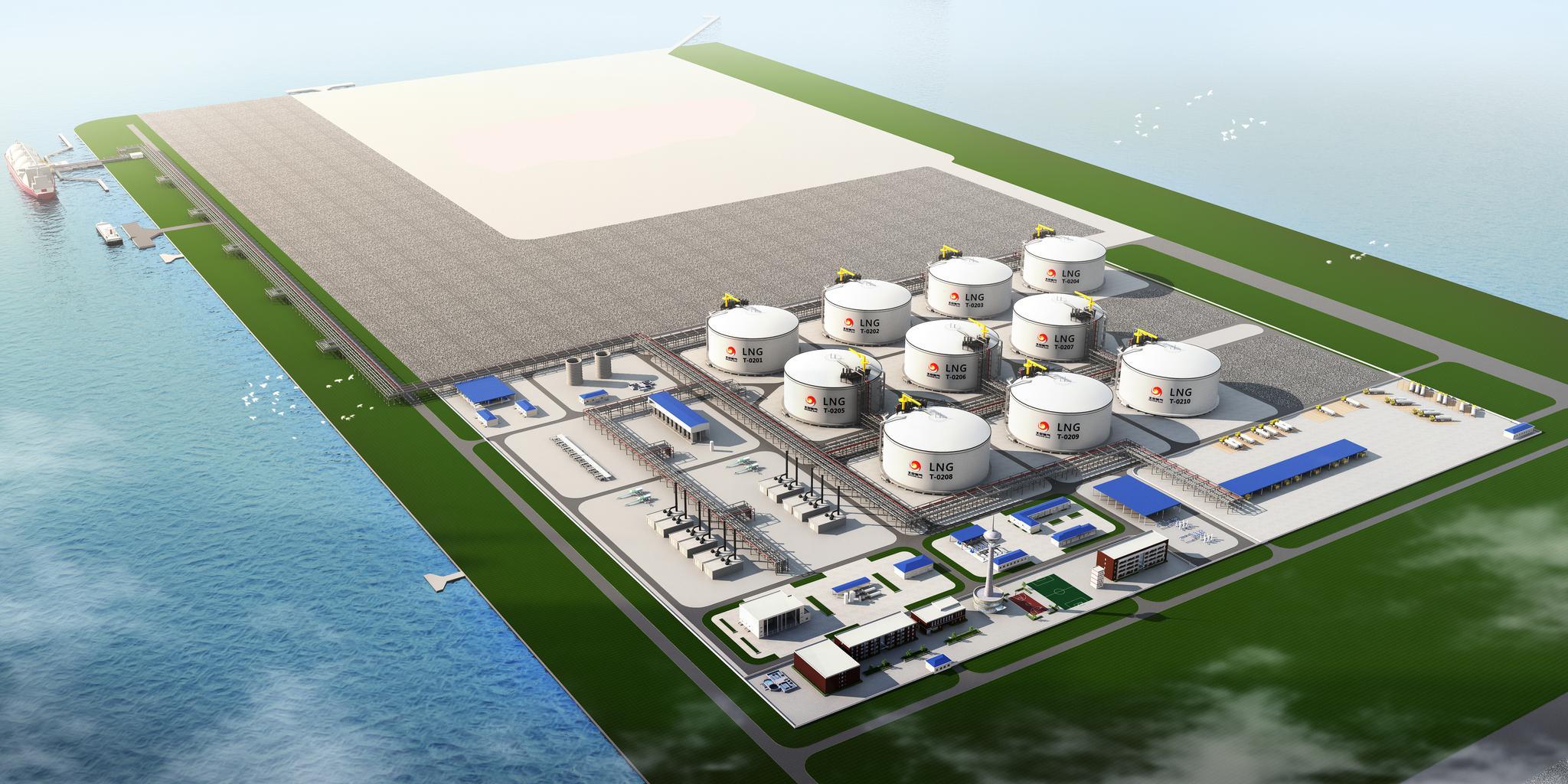 北京在天津南港建超大天然气应急储备项目,可储12亿立方米图片