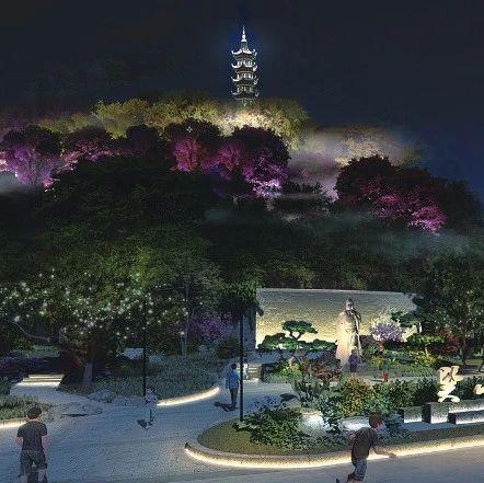 """""""水墨巽山""""来了!工程完工在即,市区大南商圈将添灯光秀场"""