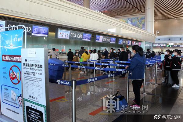 哈尔滨机场今年旅客吞吐量突破1000万人次