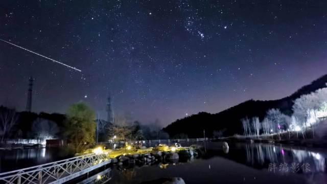 超震撼,手机记录了@山水怀柔 喇叭沟门的超慢火流星!