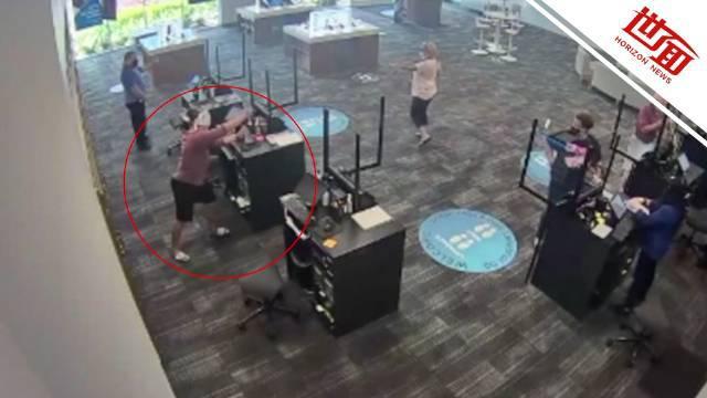 女子要求退款被拒怒撬收银柜拿钱 店内所有人看傻眼