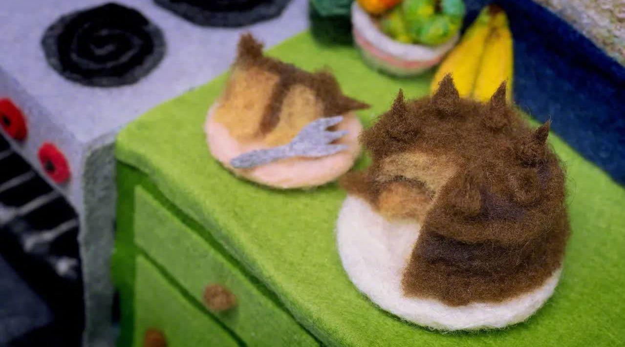 用羊毛毡做烘焙!