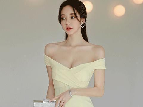 孙允珠两款暖色系穿搭性感优雅,穿淡黄色包臀裙和外套裙哪款迷人