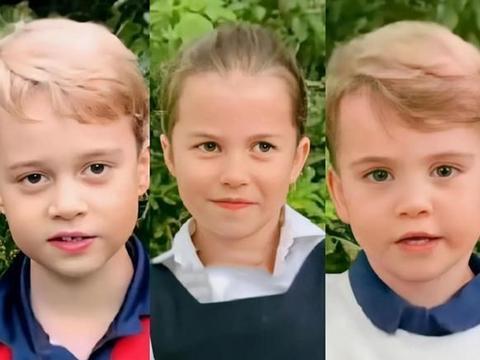 凯特王妃晒出三萌娃!路易像爸爸,乔治像妈妈,夏洛特神似英女王