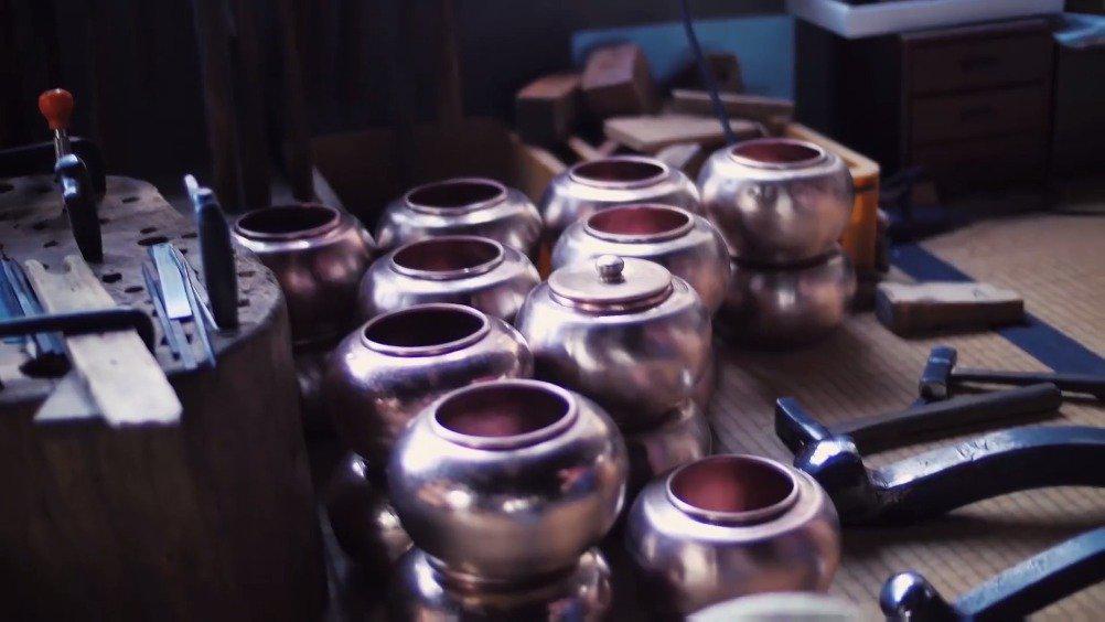 日本手工金属锻造工艺——燕锤起铜器