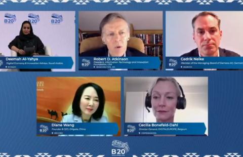 敦煌网王树彤B20峰会分享中国经验:以数字化带动经济包容性增长