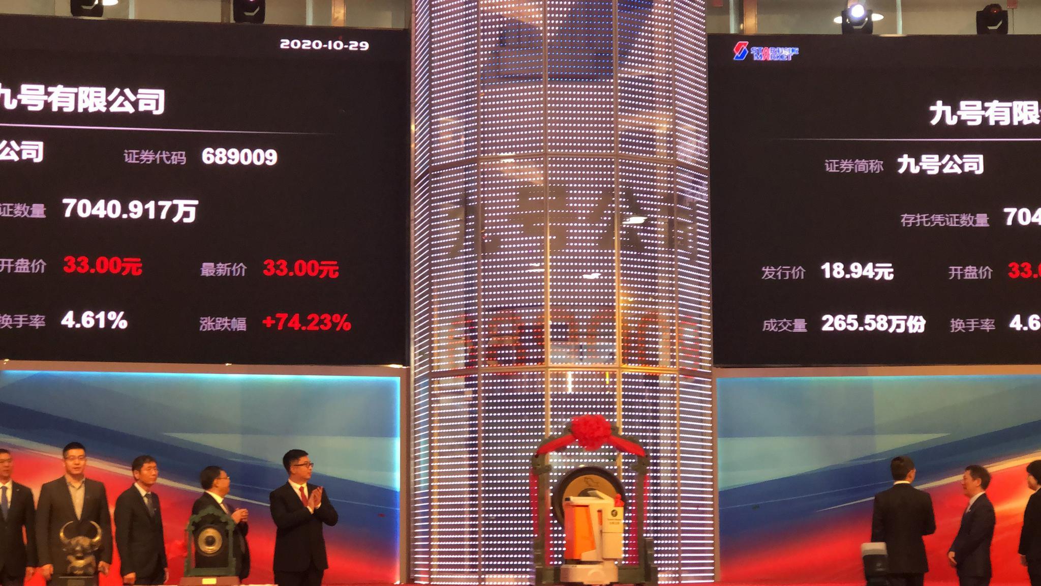 """九号公司上市首日涨逾一倍,未来还是想被定义为""""机器人公司""""图片"""