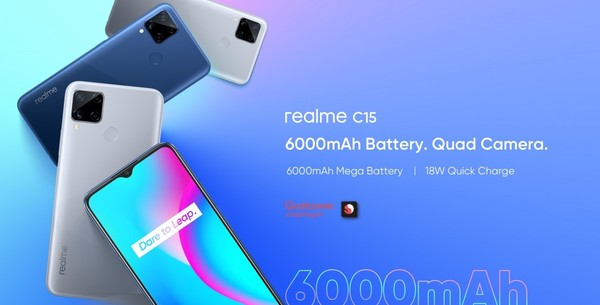 realme C15新版本搭载高通骁龙460亮相 起步价900元