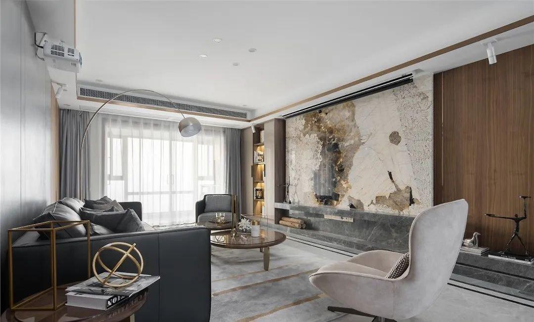 143㎡现代主义3室2厅,品味小资生活的轻奢质感!