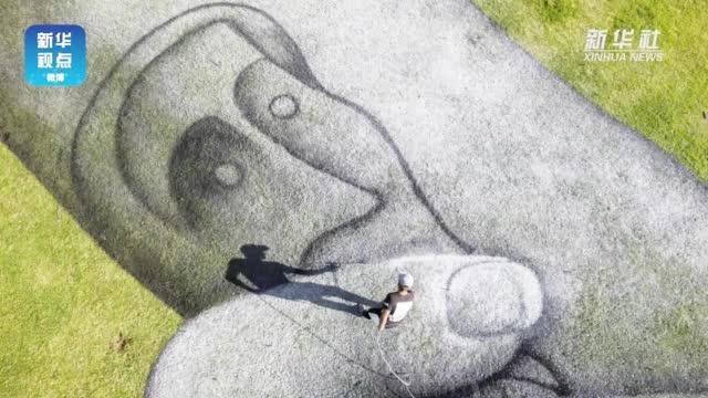法艺术家在伊斯坦布尔绘制巨幅露天画作