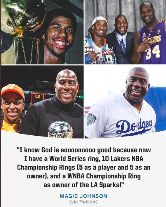 魔术师:我一个世界大赛、10个NBA和一个WNBA冠军