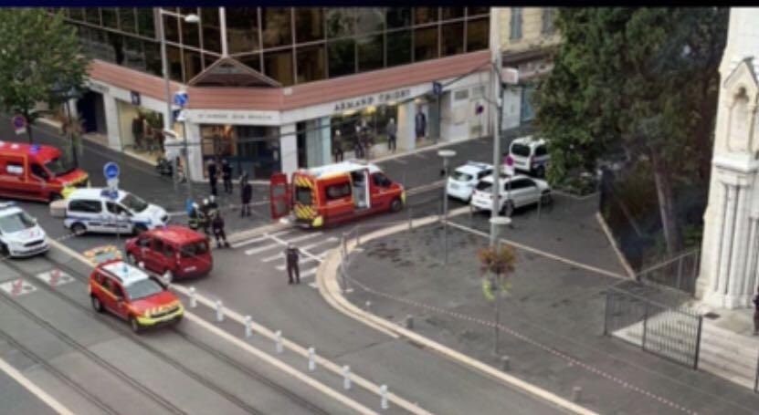 法国尼斯发生恐怖袭击,至少3人死亡