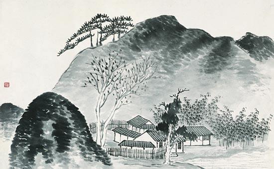 齐白石《借山图》独特的魅力:对途中真实山水的写生稿和印象