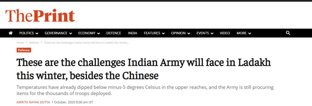 """印媒渲染""""拉达克地区""""印军困境:天极寒,缺水粮,有雪崩…图片"""