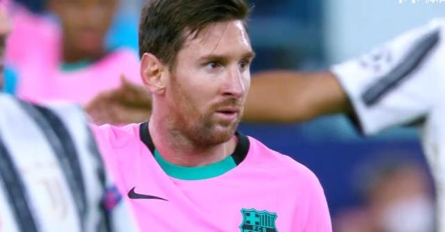 3次破门被吹 莫拉塔进完球不敢庆祝 梅西传射巴萨2:0完胜尤文