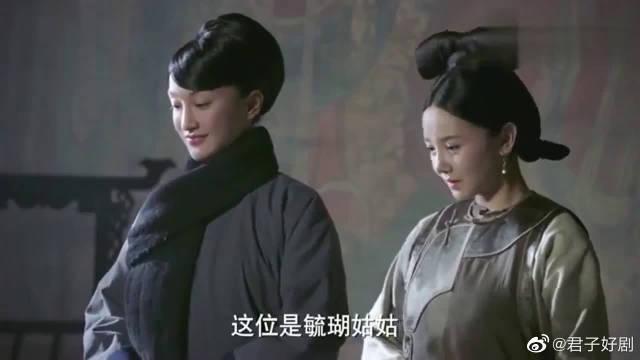 如懿出冷宫时,李玉给她一件紫色花朵的披风……
