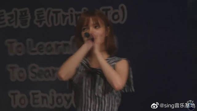 韩国女团aoa,岭南理工大学演出现场版,美丽的小姐姐嗓音也好听