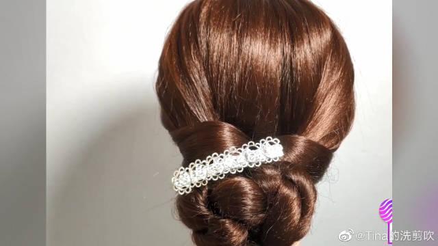 日常盘发编发教程,适合懒人的发型,随手一绑,就是一款气质发型