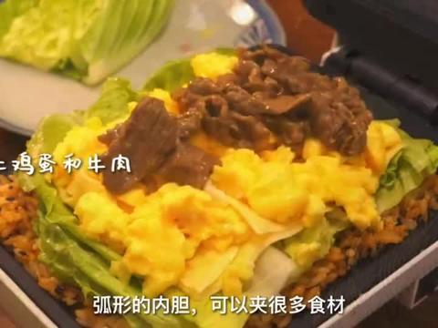 美食教程:这牛肉米汉堡也太绝了吧!