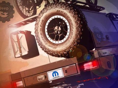 Jeep Gladiator新车型预告图发布,将在SEMA改装展上发布