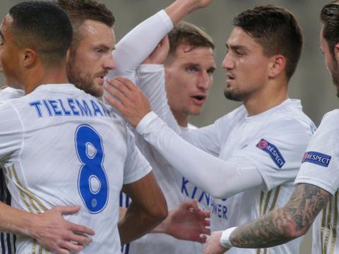 欧联-瓦尔迪点射莱斯特2-1 姆希塔良中框罗马0-0