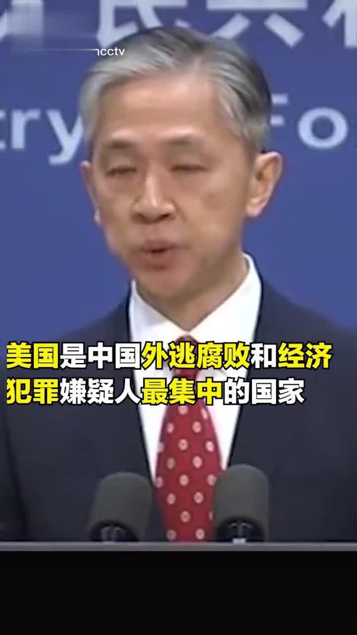 外交部:美国是中国外逃腐败和经济犯罪嫌疑人最集中的国家……