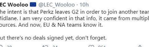 Perkz转会风波仍未平息,两大赛区四支队伍仍对其有意!