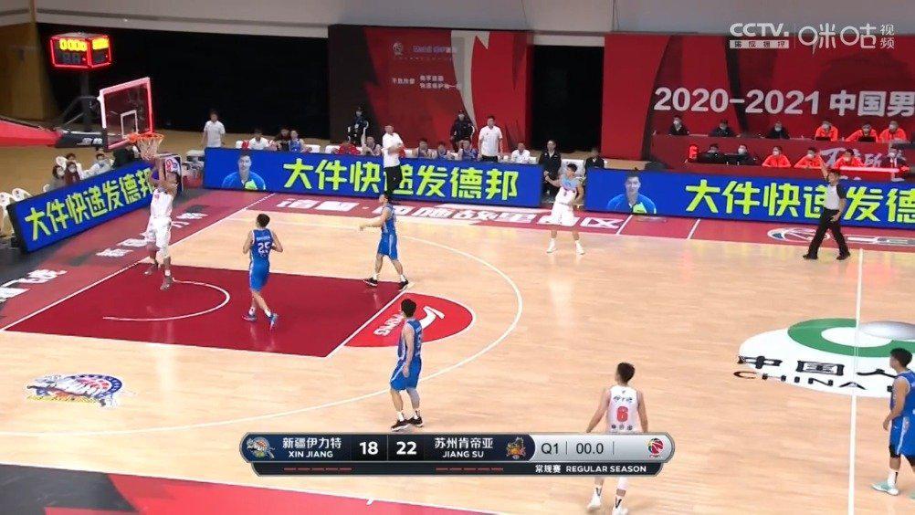 不可思议!@新疆广汇篮球俱乐部 王政博 后场信手一抛……