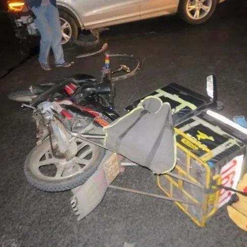 延吉一男子醉驾闯红灯,撞伤外卖骑手!