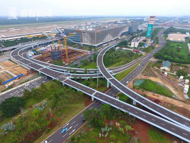 海口美兰机场二期扩建项目综合交通工程竣工验收图片