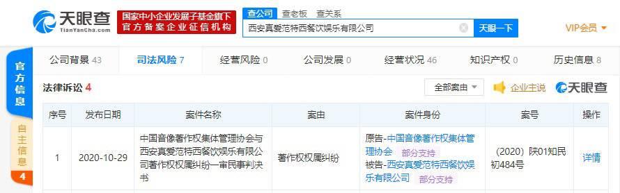 周杰伦投资的KTV关联公司涉300余音乐作品侵权 被判赔偿9100元等