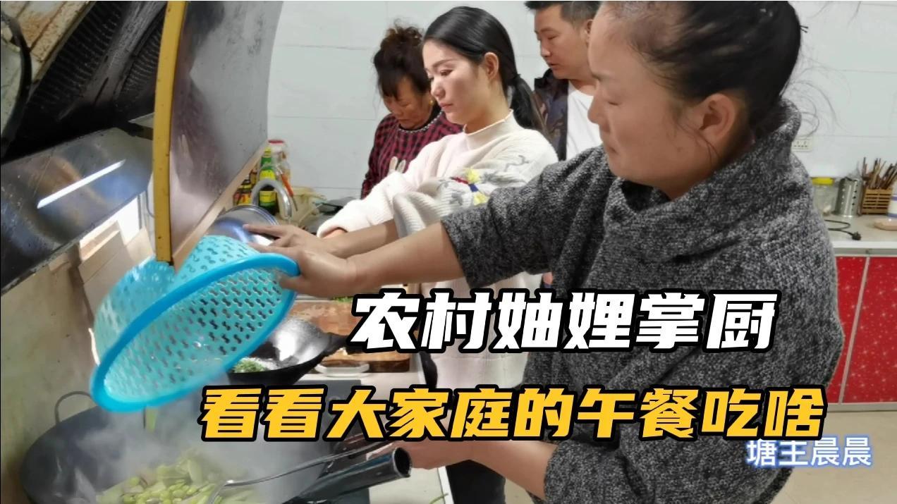 菜园里各种新鲜蔬菜吃不完,晨晨大嫂掌厨,看大家庭午餐吃啥?