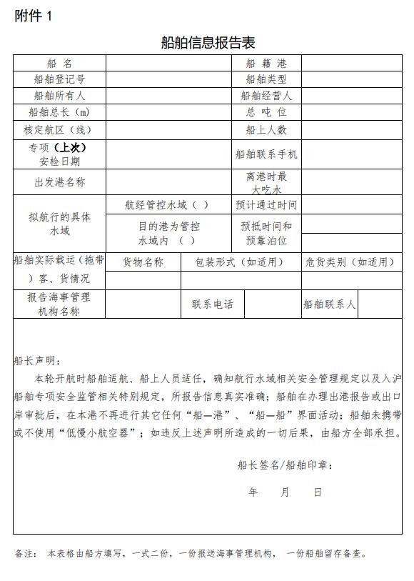 中华人民共和国海事局关于对近期入沪船舶开展专项安全监管工作的通告