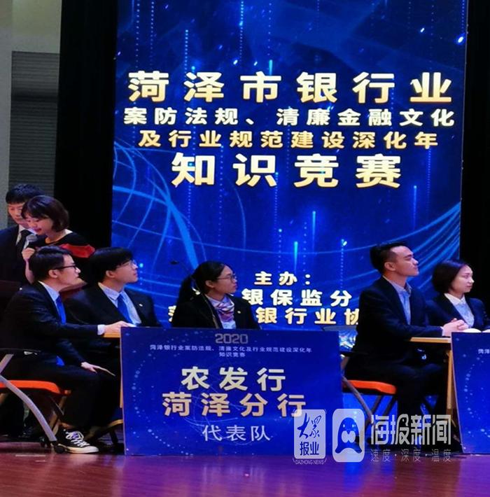 农发行鄄城县支行选手在市银行业举办的知识竞赛中获第七名