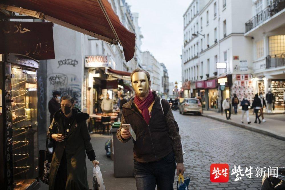 法国今起进入4周全国封锁,巴黎人行道上空空荡荡