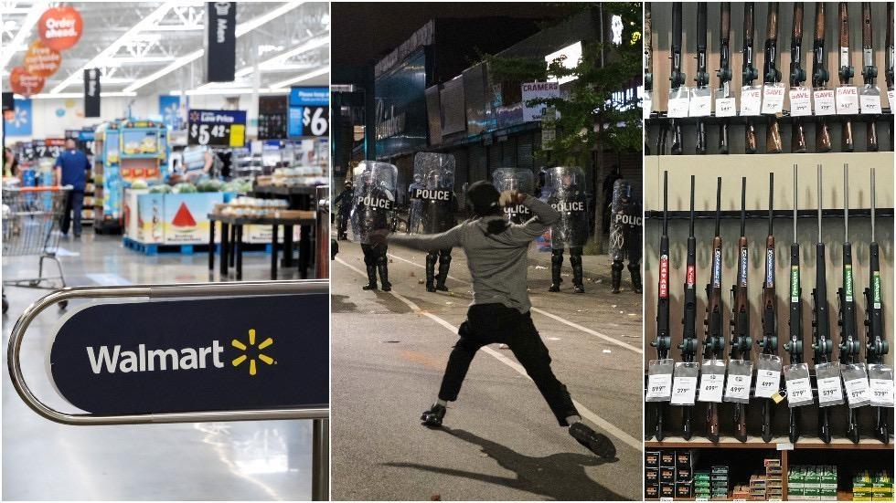 沃尔玛宣布暂将枪支弹药从美国门店销售区撤出
