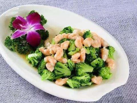 美食精选:醋溜木须、西兰花炒虾仁、虾仁蔬菜沙拉