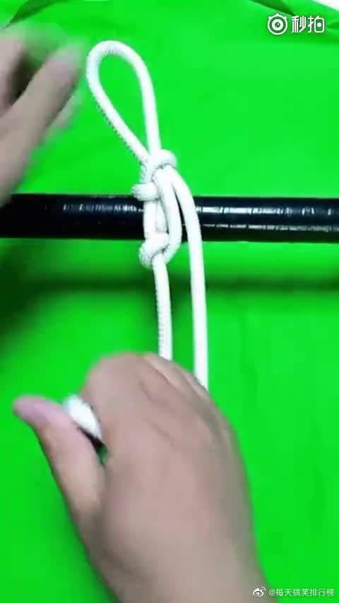 逃生下降,登山锁点,定位都非常实用的一款绳结