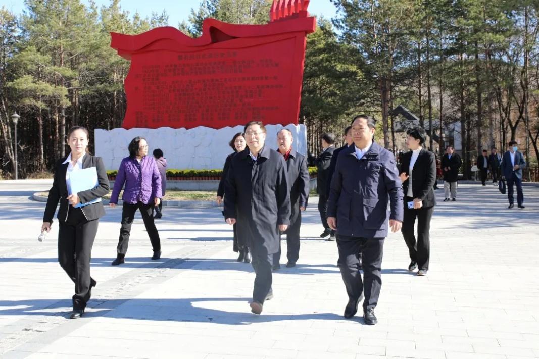 中央党史和文献研究院考察组到磐石市考察调研红色革命遗址遗迹