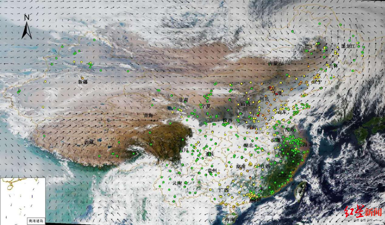 北京及周边地区受沙尘影响出现短时空气污染 明天空气质量好转