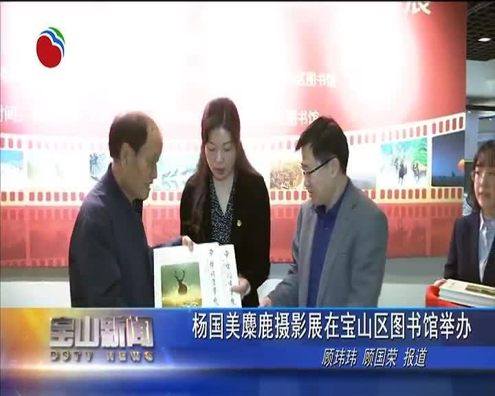 杨国美麋鹿摄影展在宝山区图书馆举办