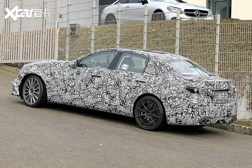 2021款奔驰 AMG C43谍照 明年年中上市