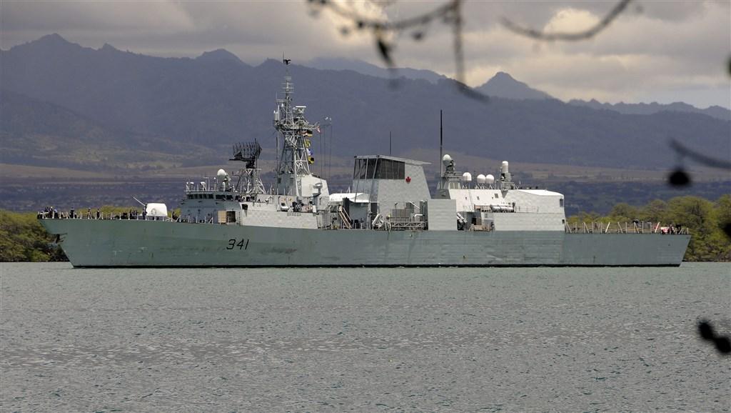 """2019年9月,加拿大""""渥太华""""号巡防舰曾航经台海。(图源:台湾""""中央社"""")"""