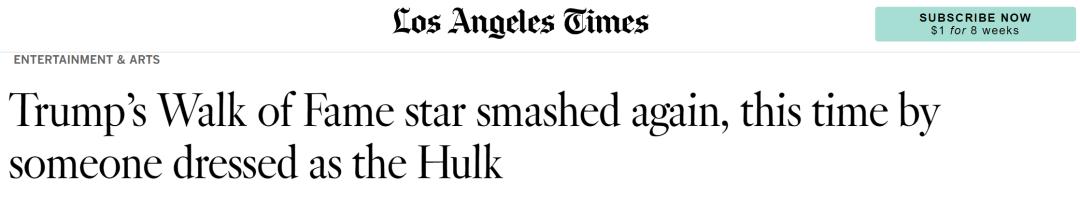 矶洛杉《报报》时道截图。