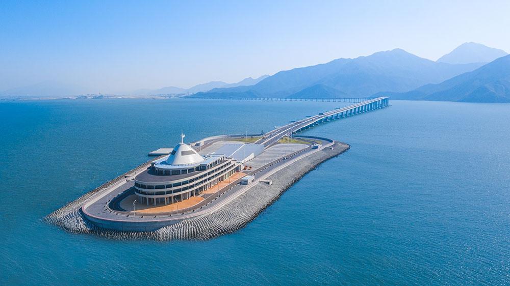 港珠澳大桥蓝海豚岛拟建桥梁博物馆:设计方案已通过专家评审图片